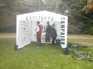 Our stand at the recent Tour Of Britain Bath Start