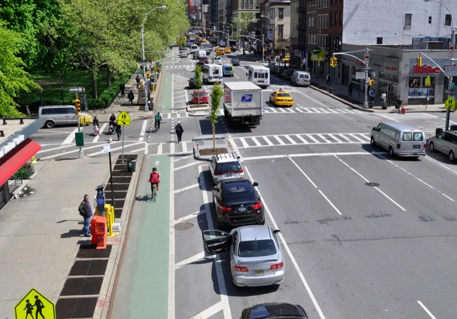 Parking Protected Bike Lane