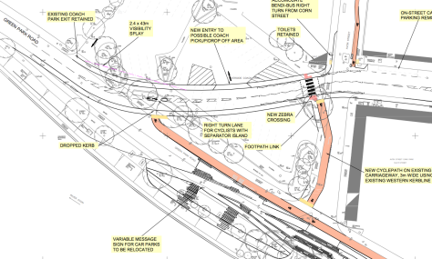 New Bath Quayside road plan.