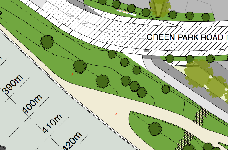 4m wide promenade reduces down to 2m wide path. This directly connects to the Bath to Bristol cycle path.