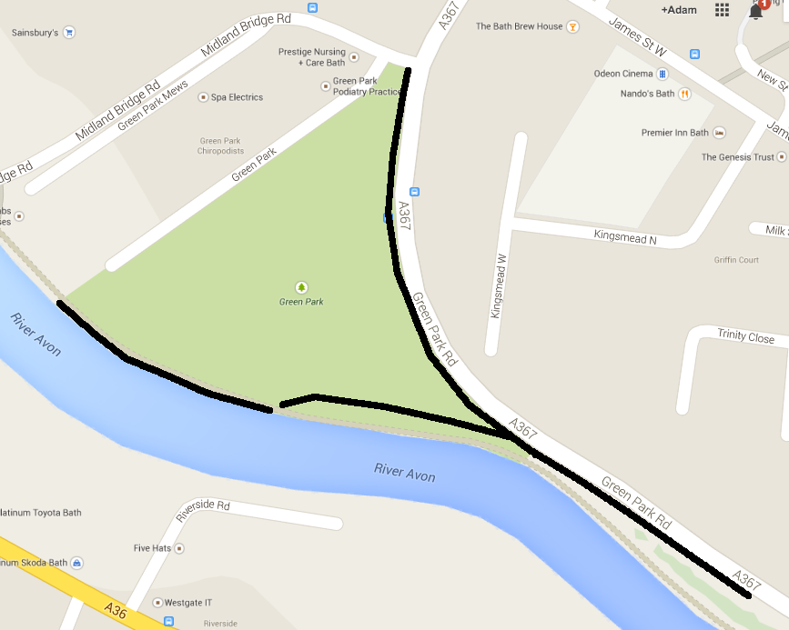 The missing cycle paths/shared paths from the Quay design