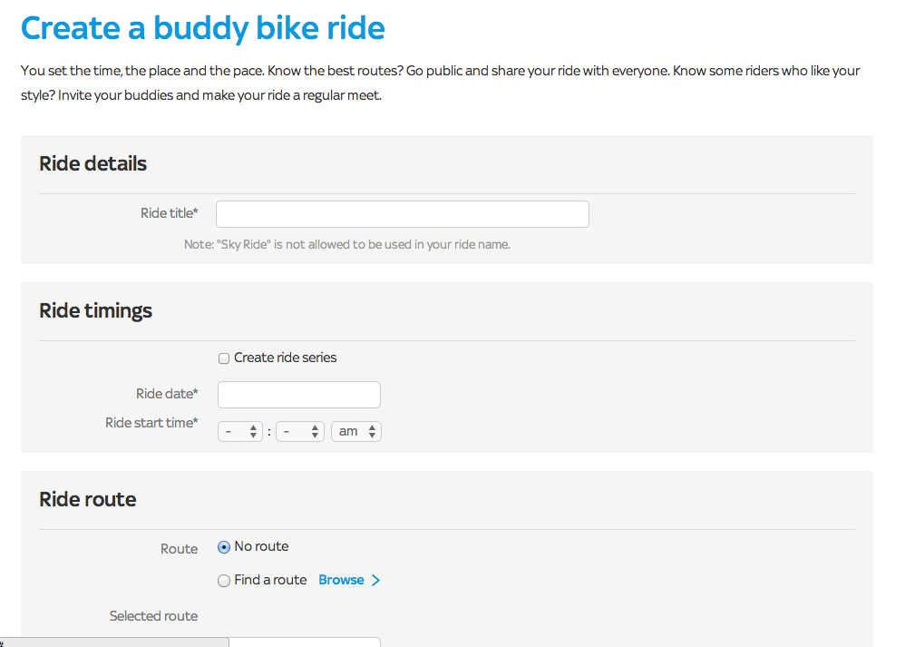 Creating a Sky Ride in your dashboard.