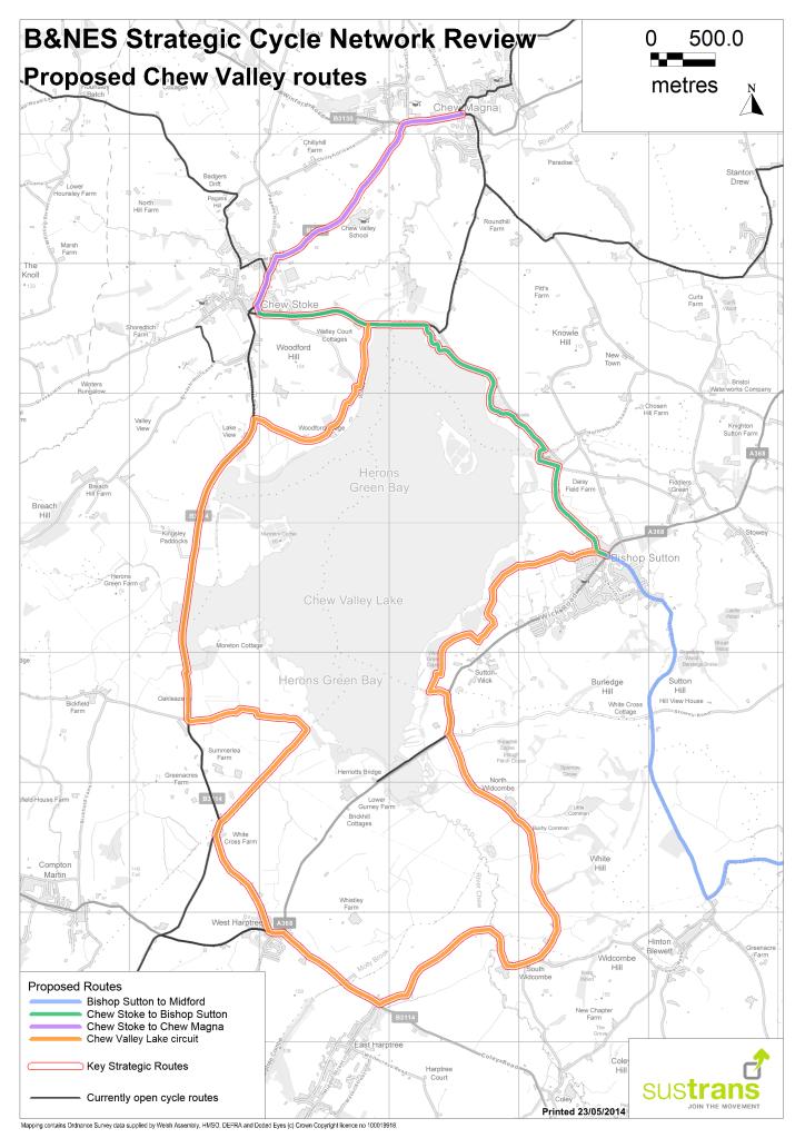 Appendix D Chew Valley Routes