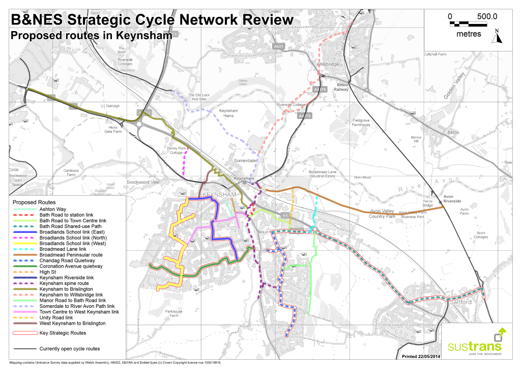 Appendix F Keynsham Network Overview