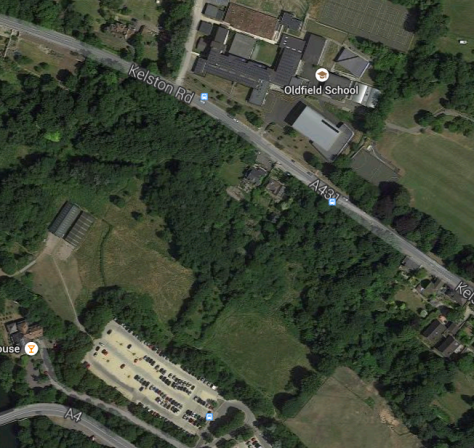 The location of Oldfield School to the Park and Ride. ONE simple shared path and you have a great place for kids to be dropped off/walk to
