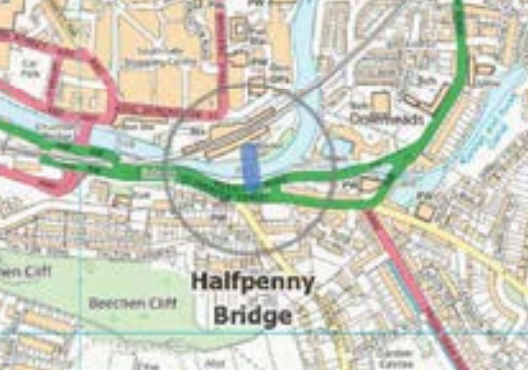 Halfpenny Bridge Schem