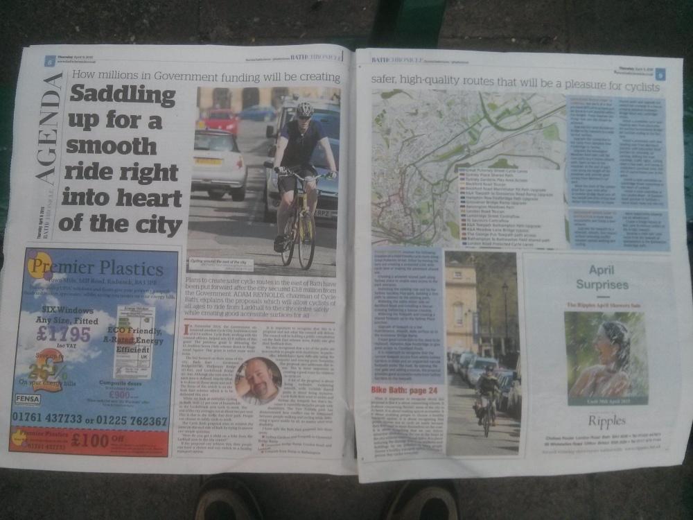 CCAG Bath East now in the Bath Chronicle! (1/2)