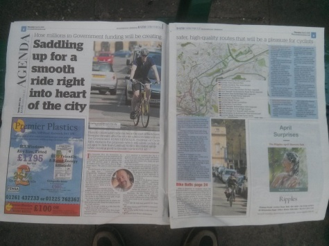 Bath Chronicle April 9th 2015 CCAG Bath East Proposal