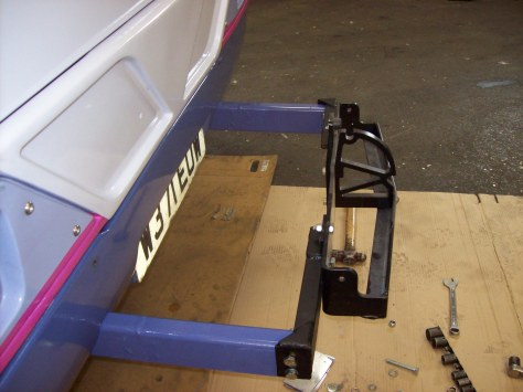 The cycle rack mounting point.
