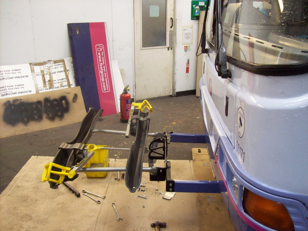 Front of Bus Cycle Racks, the DVSA says no. (5/6)