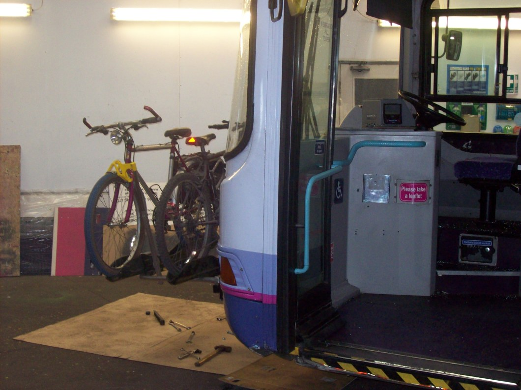Note closeness to boarding point. Cyclist should be able to load bike and pay for ticket in under 20 seconds.