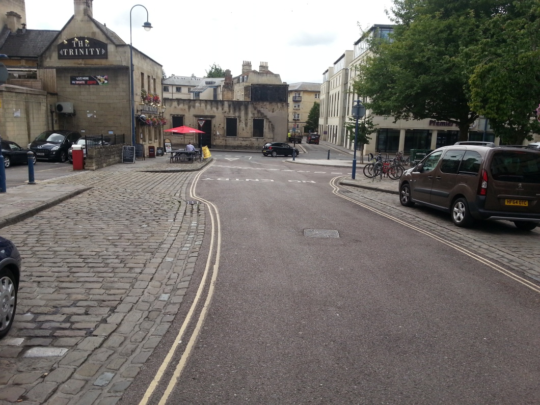 MISSING cycle contraflow on New Street.
