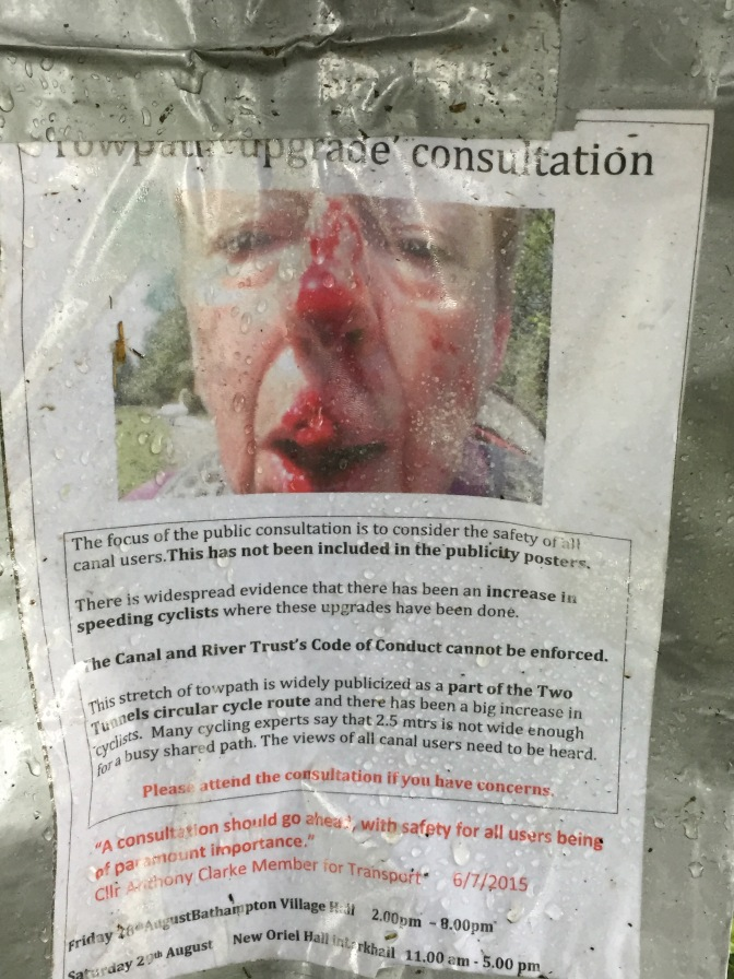 Shock tactics in canal towpath campaign.