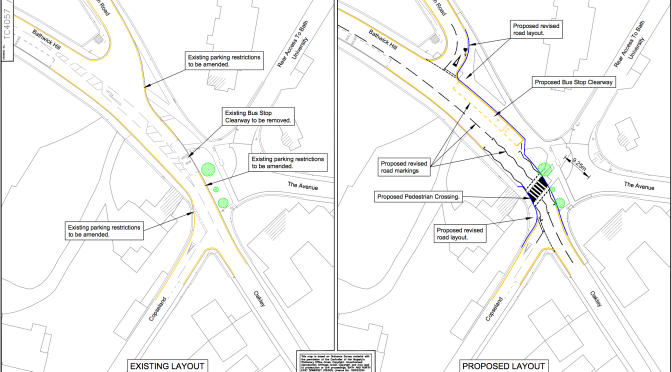INFORMAL CONSULTATION – Proposed Zebra Crossing, Copseland & Oakley junction, Bathwick