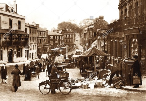 frome-market-place-early-1900s-DAYEK4