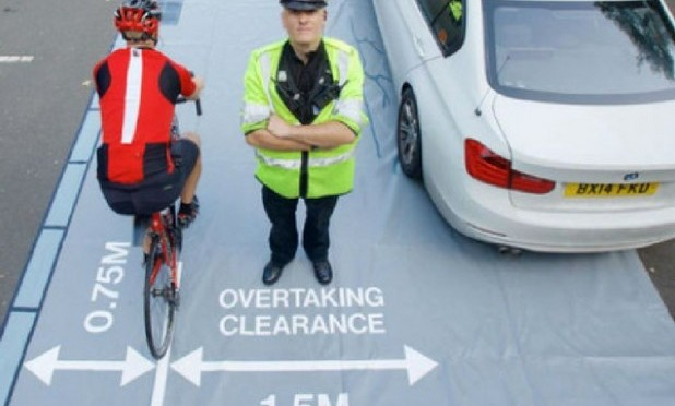 "Avon and Somerset Police ""Give space, stay safe"" initiative"
