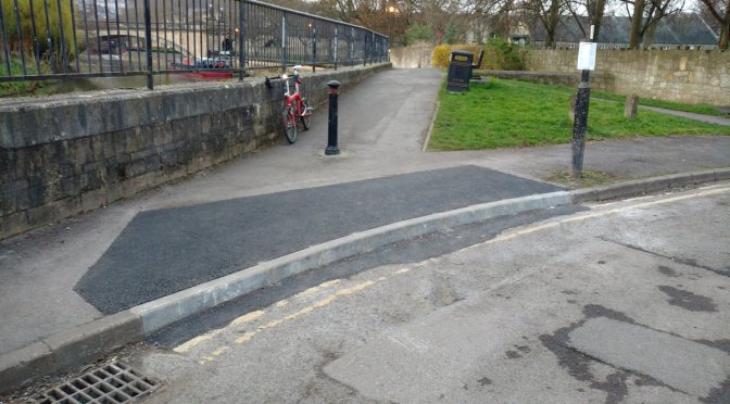 BaNES just closed a vital traffic free cycle path and made it dangerous