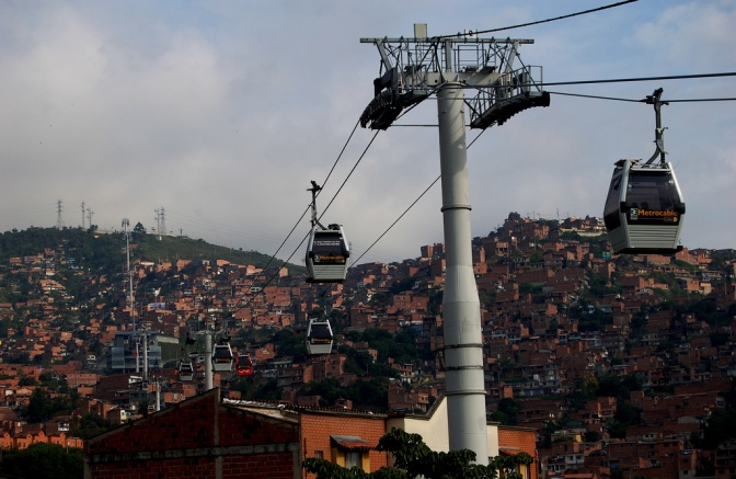 Cable Cars as Urban Public Transport in Medellin