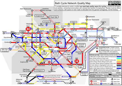 Bath Cycle Network Quality Map