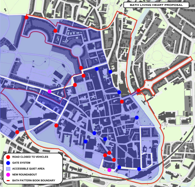 Bath's Living Heart, Soft Parking Zones, and Freight Consolidation using Public Transport