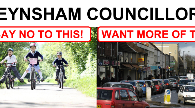 Local Councillors scupper £55K Keynsham Cycle To School Scheme